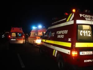 O maşină condusă de un tânăr de 19 ani s-a răsturnat pe calea ferată