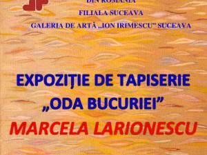 """Expoziția de tapiserie """"Oda Bucuriei"""" a artistei Marcela Larionescu"""