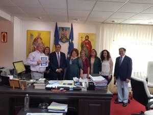 Primarul din Karavas, care face parte din delegația UNESCO, a solicitat înfrățirea cu municipiul Suceava