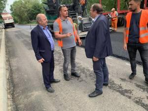 Gheorghe Flutur și Ilie Boncheș au inspectat lucrările care se realizează în Vatra Dornei