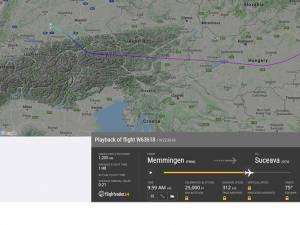 Avionul pentru zborul Memmingen - Suceava a aterizat la Sibiu