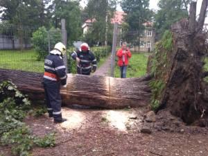 Intervenția pompierilor în municipiul Rădăuți