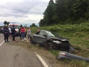 Mașina implicată în accident