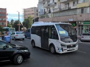 Autobuzul nu a suferit avarii foarte grave
