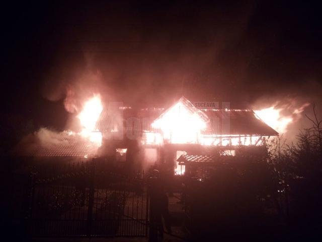 Focul a fost deosebit de violent