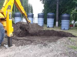 Montarea platformelor de gunoi semiîngropate din Suceava se va finaliza la jumătatea lunii august