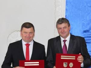 Primarii din Fălticeni și Kedainiai au semnat acordul de parteneriat dintre cele două orașe
