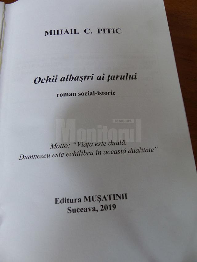 """""""Ochii albaștri ai țarului"""", roman social-istoric semnat de Mihail C. Pitic"""