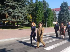 Ziua Imnului Național a fost marcată în Piața Tricolorului din centrul Sucevei