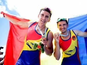 Florin Lehaci și Alexandru Ciobâcă (CSM Suceava) au câştigat aurul mondial la tineret în proba de dublu rame