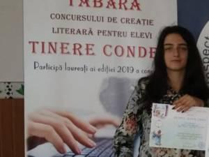 """Diana Șmalbergher, elevă în clasa a IX-a la Colegiu Tehnic ,,Lațcu Vodă"""" Siret"""