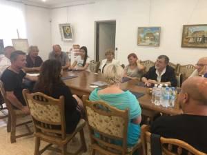 Delegația românească, însoțită de conducerea Teatrului Dramatic Olga Kobileanska Cernăuți, a fost primită la Consulatul General al României la Cernăuți 2