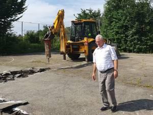 Primarul Sucevei, Ion Lungu, prezent la începerea lucrărilor la noua grădiniță, din Burdujeni Sat