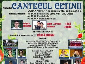 """Festivalul """"Cântecul cetinii"""", la Dorna Arini"""