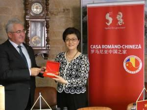 Primarul Sucevei, Ion Lungu, cu Excelența Sa Jiang Yu, ambasadorul Chinei
