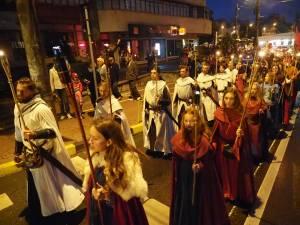 """Parada cu făclii a Festivalului de Artă Medievală """"Ștefan cel Mare"""""""