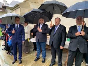 Liderii PNL Suceava au participat la slujba de la Mănastirea Putna