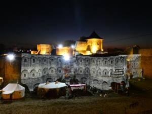 Videomaping pe zidurile Cetății Sucevei