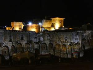 Proiecţii video pe zidurile Cetăţii Suceava