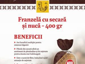 Pâinea cu nucă și secară Panifcom, o noutate pe piața regională de panificație!