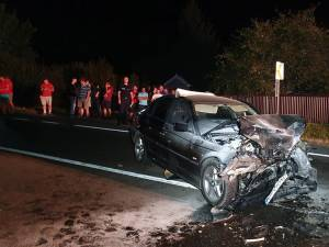 Autoturismul BMW care a intrat pe contrasens