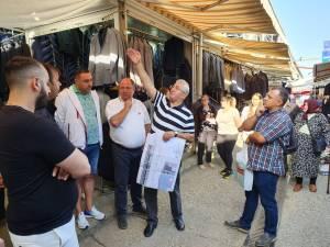 Modificările necesare pentru asigurarea încălzirii Bazarului, discutate de primarul Sucevei cu comercianții