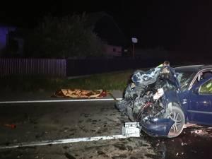 Impactul frontal dintre cele două maşini le-a fost fatal celor doi soţi