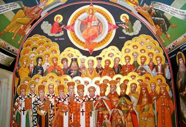 Ierarhizarea sfinţilor în slujbele Bisericii