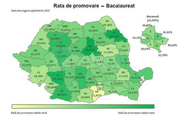 Harta promovabilităţii la nivel naţional