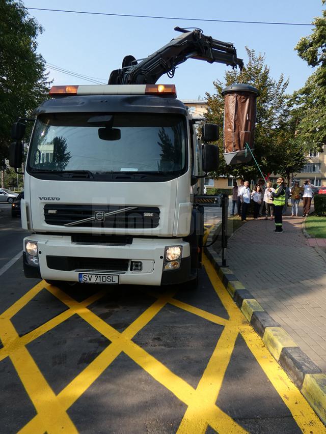 Cel mai modern sistem de colectare a gunoiului menajer, implementat de asocierea Diasil – Ritmic, a fost inaugurat la Suceava