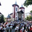 """Biserica """"Sfinţii Împăraţi Constantin şi Elena"""" din Gura Humorului a primit veşmântul sfinţirii.  Foto: Pr. Constantin Ciofu"""