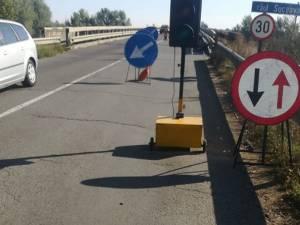Lucrări de reparații pe podul rutier de pe DN 17A - Dornești
