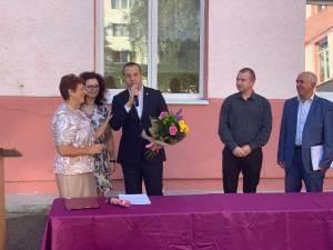 Viceprimarul Lucian Harșovschi la deschiderea anului școlar