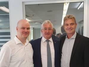 Primarul Ion Lungu și reprezentanții Băncii Mondiale în România