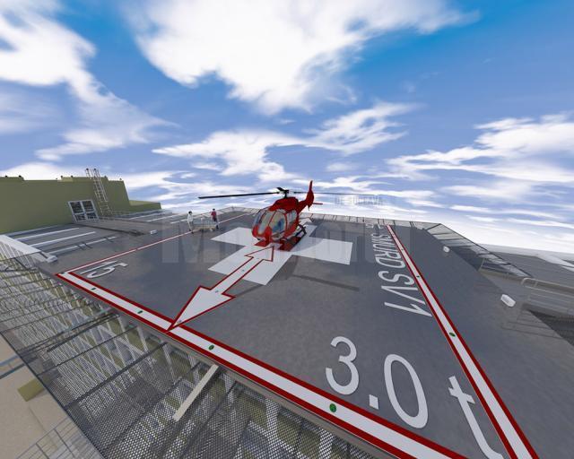 Proiectul pistei pentru elicoptere pe Spitalul de Urgență Suceava