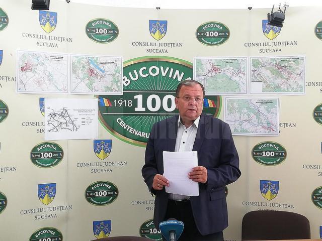 Gheorghe Flutur a prezentat proiectele celor cinci şosele de centură