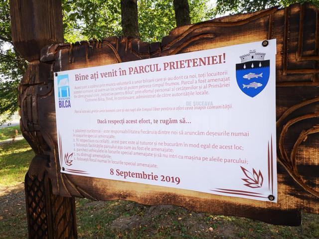 """Locuitorii comunei Bilca au transformat un teren viran în """"Parcul Prieteniei"""" după o muncă de nouă luni"""