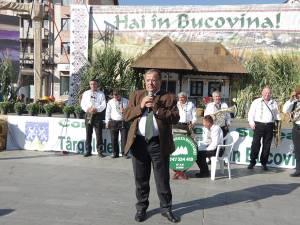 """Gheorghe Flutur consideră că centrul Sucevei este cea mai bună locaţie pentru organizarea Târgului """"Produs în Bucovina"""""""