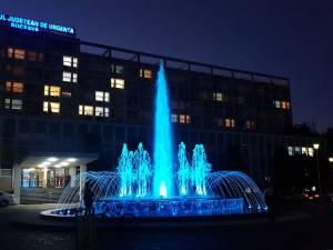 Fântâna muzicală de la Spitalul de Urgență Suceava a costat aproximativ 60.000 de euro