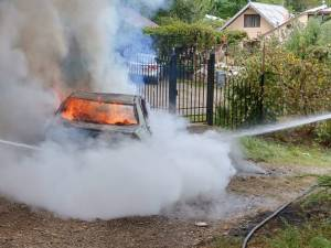 Maşina a ars ca o torţă