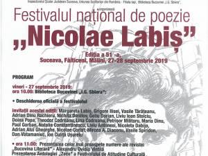"""Festivalul național de poezie """"Nicolae Labiș"""", ediția a 51-a, la Suceava, Fălticeni, Mălini"""