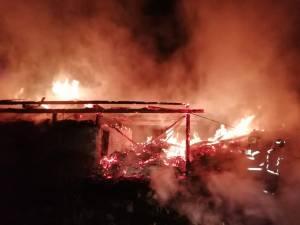 Incendiul a fost violent si pe o suprafață importantă
