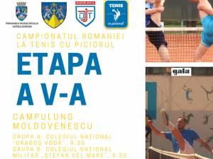 Câmpulung Moldovenesc va găzdui etapa a V-a a Campionatului României la tenis cu piciorul