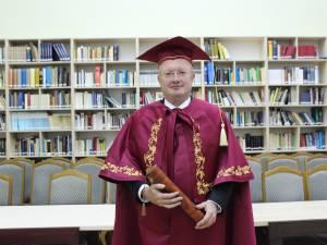 """Prorectorul USV Ștefan Purici, distins cu titlul de Doctor Honoris Causa al Universității """"Yurii Fedkovici"""" Cernăuți"""