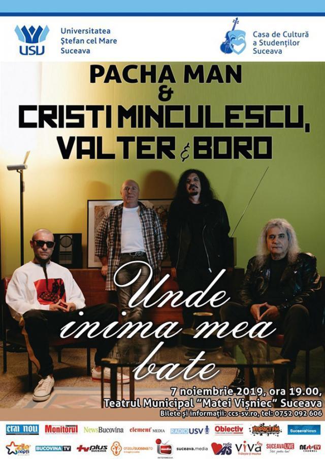 Spectacol cu Cristi Minculescu, Valter Popa şi Doru Borobeică, la Suceava