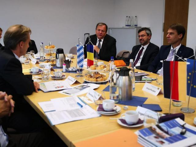 Gheorghe Flutur a discutat cu oficiali din Guvernul Bavarez despre o colaborare în domeniul construcţiei de drumuri