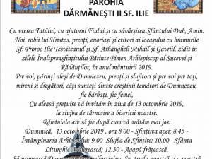 Biserica cu hramurile Sf. Proroc Ilie și Sf. Arhangheli Mihail și Gavriil din Dărmănești va primi duminică veșmântul sfințirii
