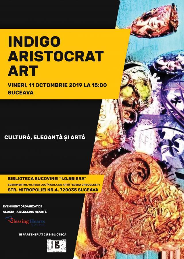 """Indigo Aristocrat Art"", vineri, la Biblioteca Bucovinei"
