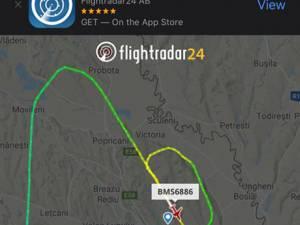 Avionul în care se afla Gheorghe Flutur a făcut o buclă în aer până a ateriza în siguranţa pe aeroportul din Iaşi