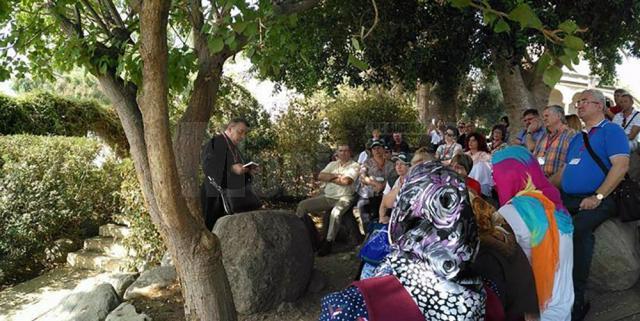 Ion Lungu la rugaciune în Grădina Ghetsimani
